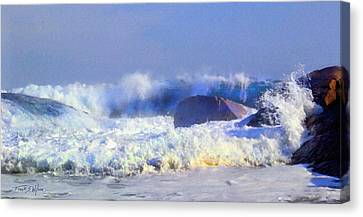 Incoming Wave Canvas Print by Frank Wilson