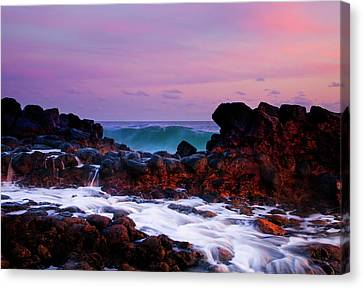 Incoming Wave Canvas Print by Mike  Dawson
