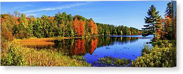 New England Autumn Canvas Print - Incredible Pano by Chad Dutson