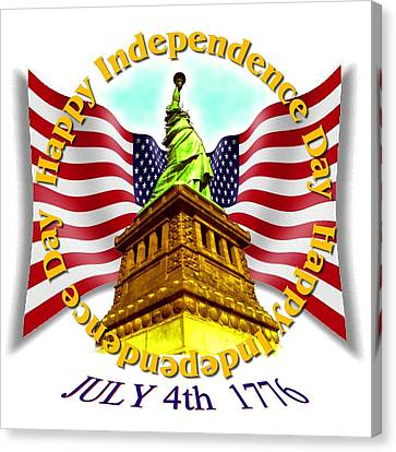 Independence Day July 4th 1776 Canvas Print