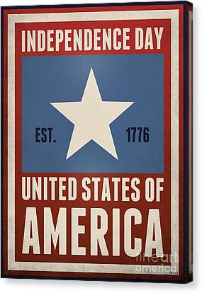 4th July Canvas Print - Independence Day by Phil Perkins