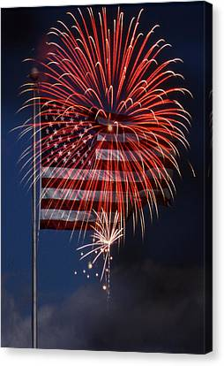Celebrating Freedom Canvas Print - Independence Day by Skip Willits