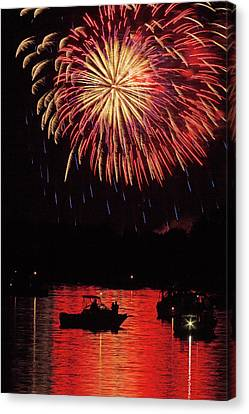 Independence On The Water Canvas Print by Jerry Lohman