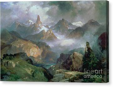 Mountains Canvas Print - Index Peak by Thomas Moran