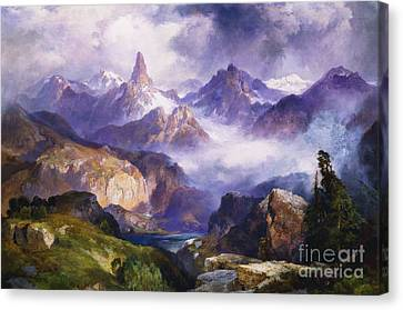 Index Peak Yellowstone National Park Canvas Print by Thomas Moran