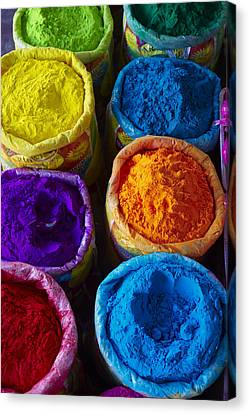 India, Holi Festival, Color And Spring Festival Canvas Print by Bruno Morandi