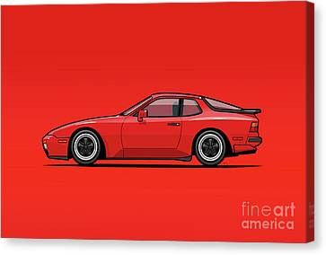 India Red 1986 P 944 951 Turbo Canvas Print by Monkey Crisis On Mars