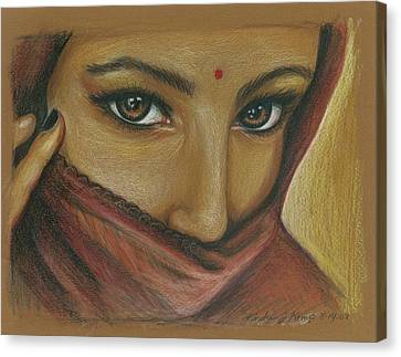 India Woman Canvas Print by Linda Nielsen