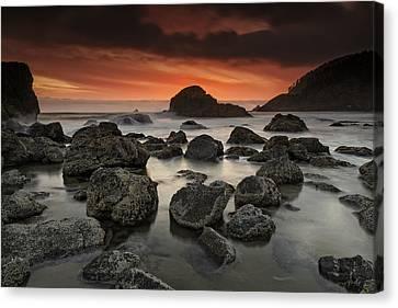 Beach Landscape Canvas Print - Indian Beach Sunset by Rick Berk