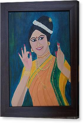 Indian Beauty Canvas Print by Shweta Singh