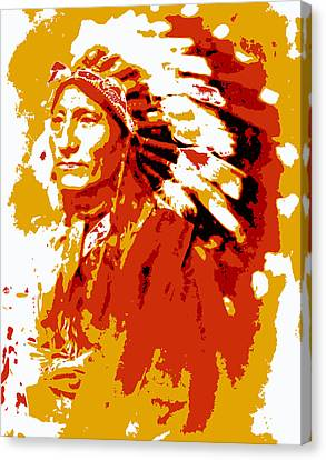 Indian Chief  Abstract Canvas Print