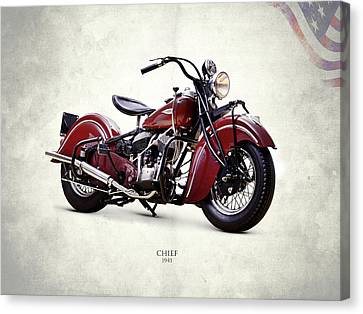 1941 Canvas Print - Indian Chief 1941 by Mark Rogan
