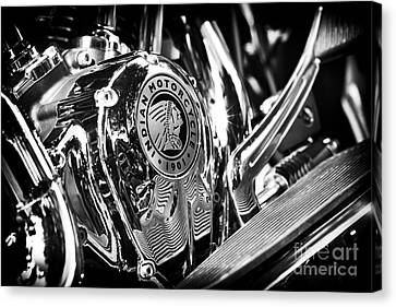 Indian Chief Engine Casing Canvas Print by Tim Gainey