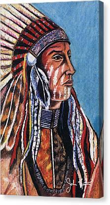 Indian Chief Canvas Print by John Keaton