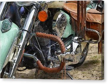 Indian Chief Vintage Ll Canvas Print by Michelle Calkins