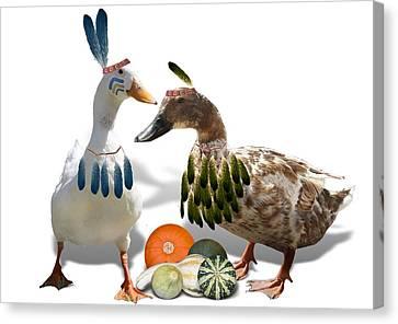 Indian Ducks Canvas Print