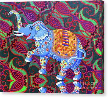 Indian Elephant Canvas Print by Jane Tattersfield
