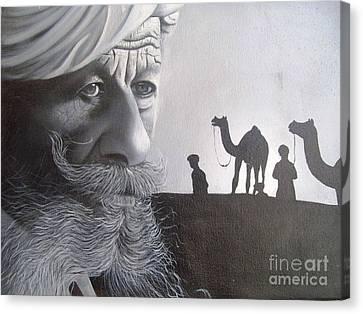 Indian Face Canvas Print by Dhiraj Parashar