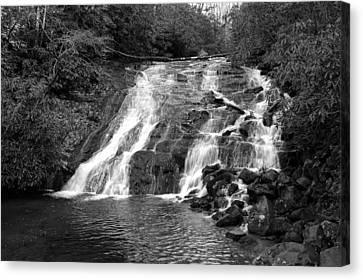 Indian Falls At Deep Creek Canvas Print by Kathy Schumann