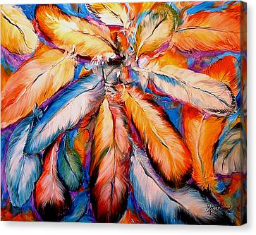 Canvas Print - Indian Feathers 2006 by Marcia Baldwin