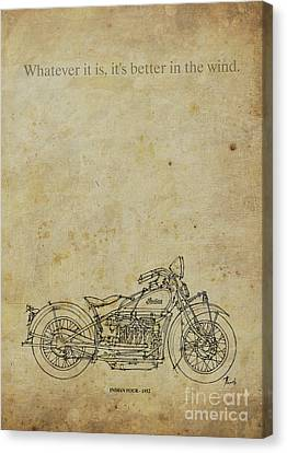 Indian Four 1932 Motorcycle Quote. Canvas Print by Pablo Franchi