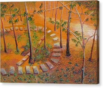 Indian Garden Canvas Print by Art Nomad Sandra  Hansen