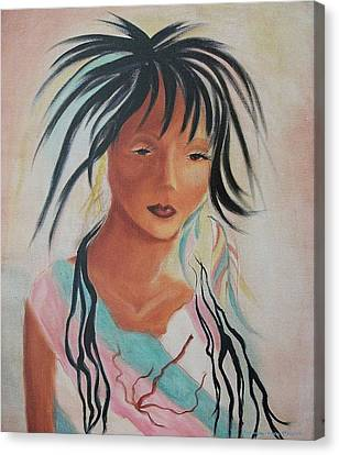 Indian Girl Canvas Print by Suzanne  Marie Leclair