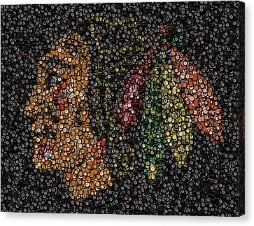 Indian Hockey Puck Mosaic Canvas Print