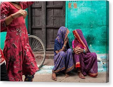Indian Mood Canvas Print by Marji Lang