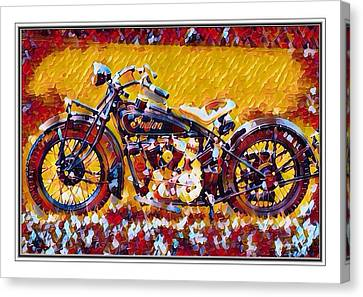 Indian Motorcycle Colorful  Canvas Print by Scott Wallace