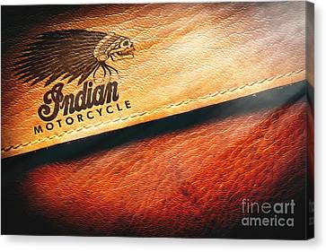 Indian Motorcycle Buffalo Leather Bag Canvas Print by Stefano Senise