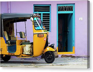 Indian Rickshaw Canvas Print by Tim Gainey