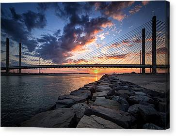 Indian River Inlet And Bay Sunset Canvas Print