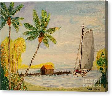 Indian River Mail Sloop 1908 Canvas Print