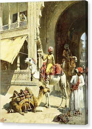 Indian Scene Canvas Print by Edwin Lord Weeks