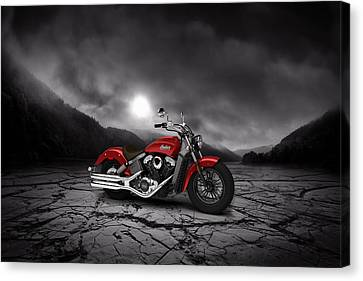 Indian Scout 2015 Mountains 02 Canvas Print by Aged Pixel
