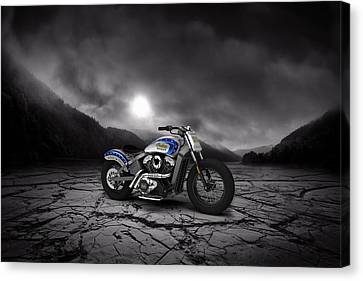 Indian Scout 2015 Mountains Canvas Print by Aged Pixel