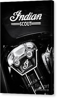 Indian Scout Abstract Canvas Print