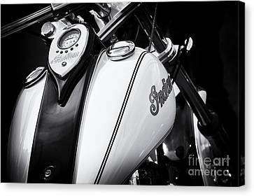 Speedometer Canvas Print - Indian Scout Gas Tank by Tim Gainey