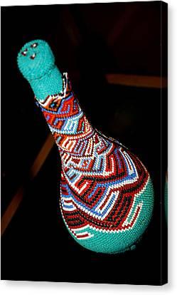 Seed Beads Canvas Print - Indian Seed Bead Bottle by LeeAnn McLaneGoetz McLaneGoetzStudioLLCcom