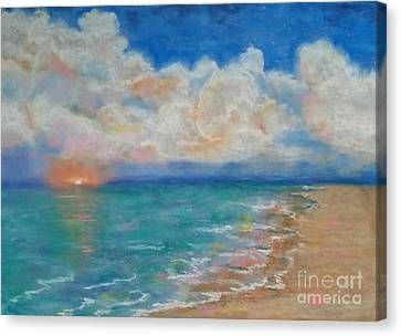 Canvas Print featuring the pastel Indian Shores by Vickie Scarlett-Fisher