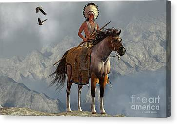 Indian Soaring Eagle Canvas Print by Corey Ford