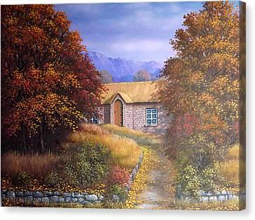 Indian Summer House Canvas Print by Sean Conlon