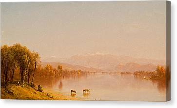 Indian Summer In The White Mountains Canvas Print by Sanford Robinson Gifford