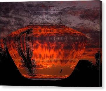 Canvas Print featuring the photograph Indian Summer Sunrise by Joyce Dickens