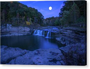 Indian Swimming Hole Moon Canvas Print by Randall Branham