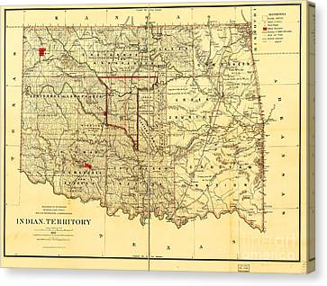 Indian Territory Canvas Print by Pg Reproductions