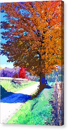 Indiana Country Road Image Canvas Print