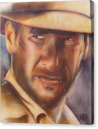 Indiana Jones Canvas Print by Vered Thalmeier