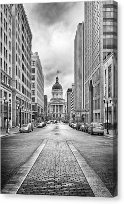 Indiana State Capitol Building Canvas Print by Howard Salmon